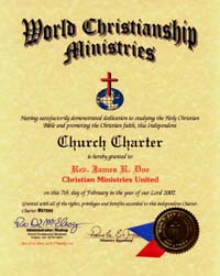 Doctor of Divinity | ordination | Church Charter | Certificate ...