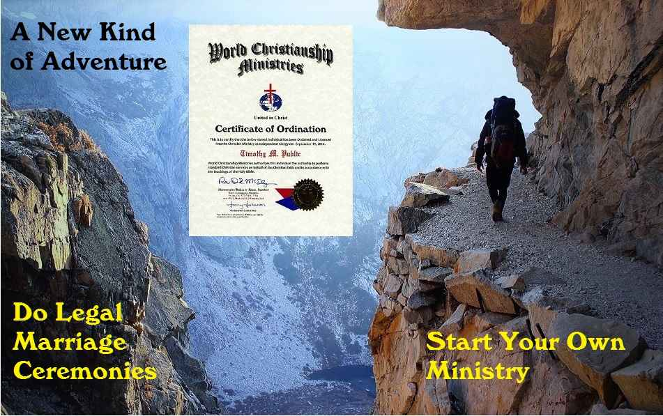 Examples of Ordination certificates and documents by WCM