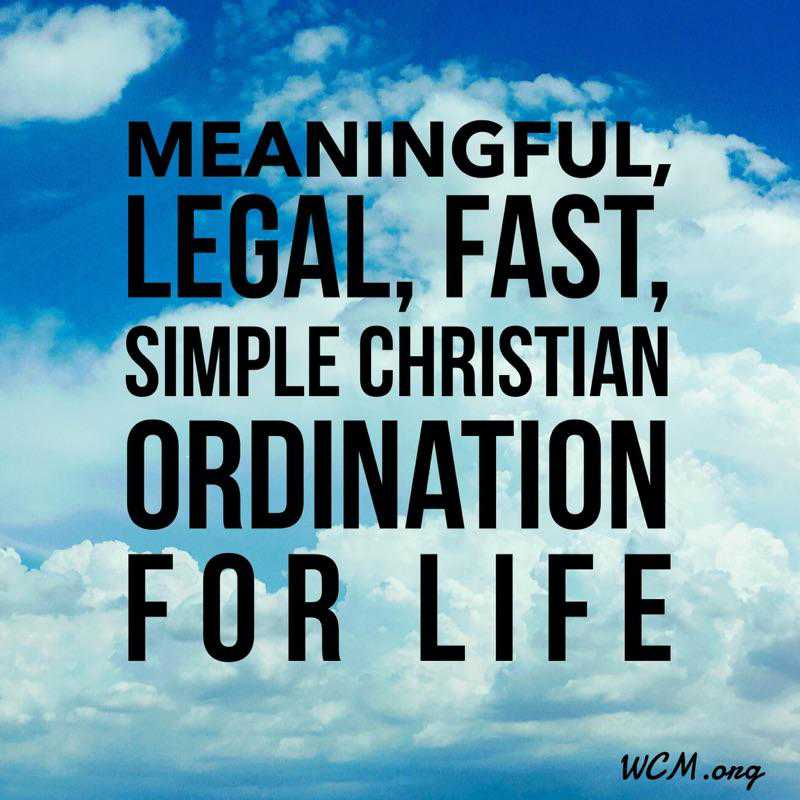 Meaningful Ordination