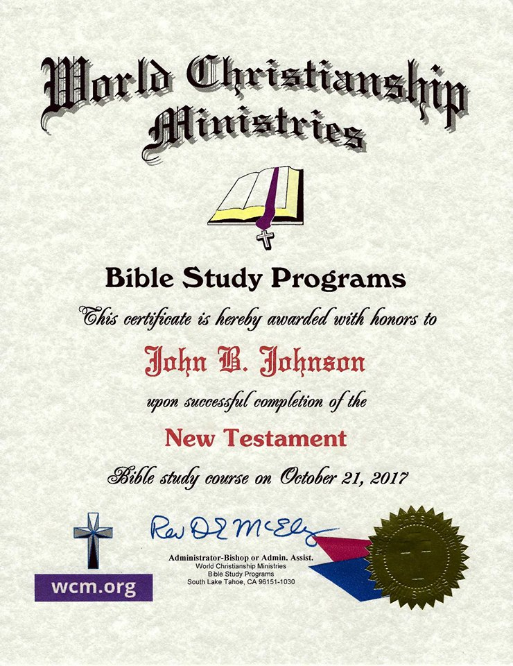 free bible courses by mail with certificates