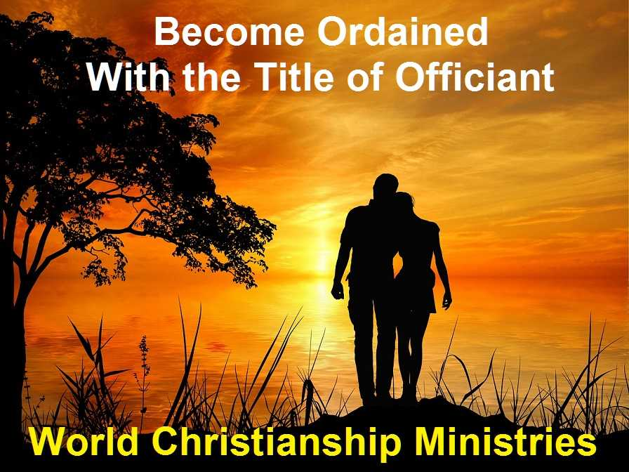 ordination title of officiant